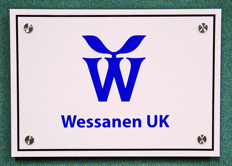 Wessanen UK Acrylic Plastic Company Sign