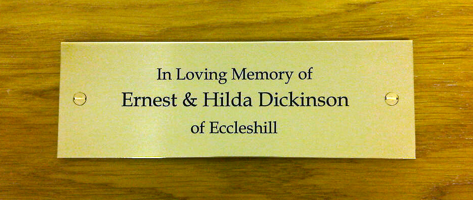 Memorial plaques can be manufactured in wide range of standard or bespoke sizes
