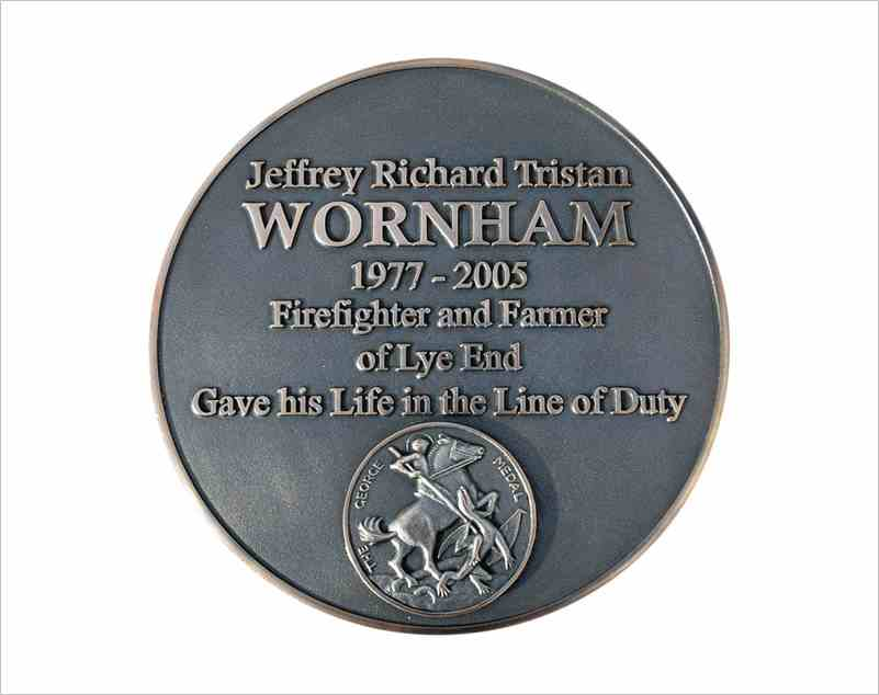 Commemorative Plaque for Memorial. Created to our customers' specification