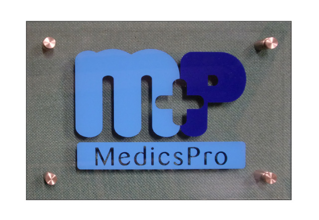 MedicsPro Acrylic Plastic Transparent Company Signage