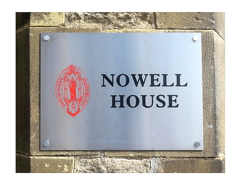 Nowell House company signage in stainless steel