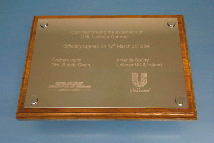 Commemorative Plaque for DHL Unilever, celebrate your special event
