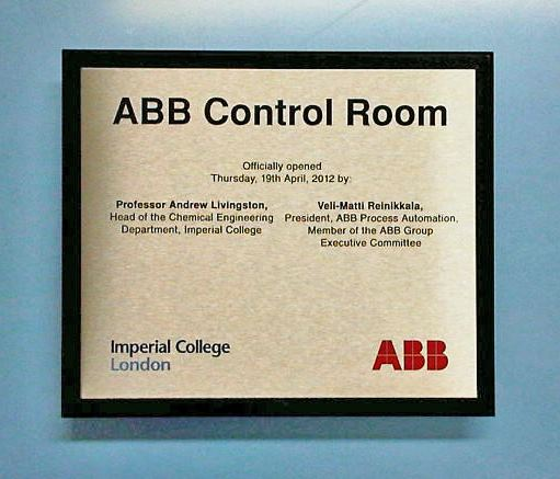Commemorative Plaque for Imperial College London in stainless steel or polished brass