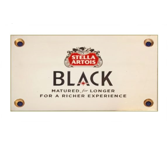 Commemorative Plaque for Stella Artois, no extra cost for adding an engraved logo