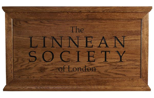 Linnean Society wooden Company plaque