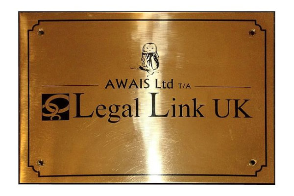 Brass Legal Plaques