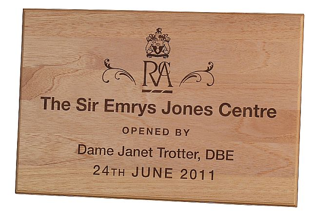 Oak wooden company opening plaques engraved