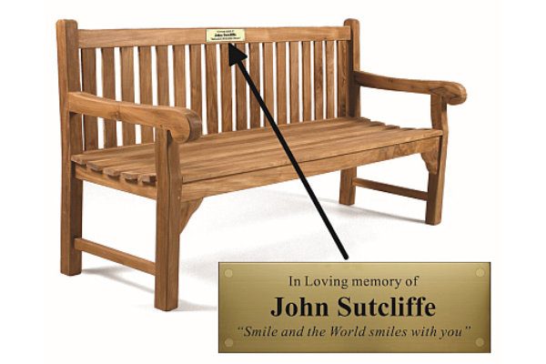 Wooden Bench Memorial Plaque