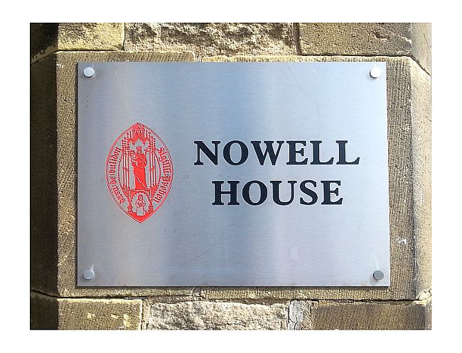 Stainless steel company wall plaques engraved with logo in colour