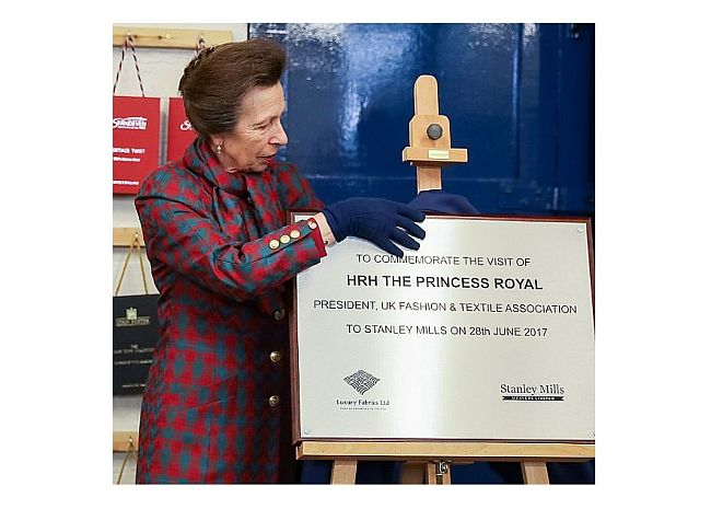 Steel commemorative engraved plaques with wooden backing for HRH the Princess Royal